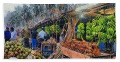 Vegetable Sellers Beach Sheet
