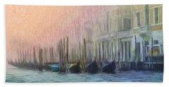 Venetian Gondolas Beach Sheet