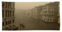 Beach Towel featuring the photograph Venice by David Gleeson