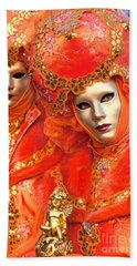 Beach Sheet featuring the photograph Venice Masks by Luciano Mortula