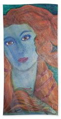 Beach Towel featuring the painting Venus's Haze by Lucia Grilletto