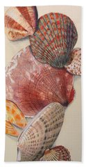 Vertical Clam Shells Beach Towel