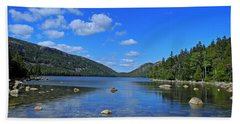 Beach Towel featuring the photograph View Of Jordan Pond by Lynda Lehmann