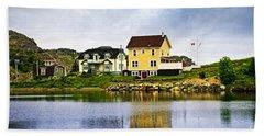 Village In Newfoundland Beach Towel
