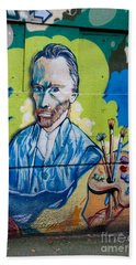 Vincent On The Wall Beach Towel by Carol Ailles