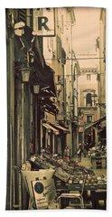 Vintage Bologna Italy Beach Towel