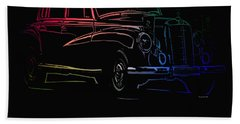 Beach Towel featuring the photograph Vintage Mercedes by George Pedro