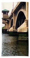 Washington Bridge Beach Sheet by John Scates