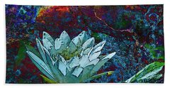 Water Lily Abstract Beach Towel by Phyllis Denton