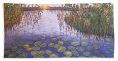 Waterlillies South Africa Beach Towel