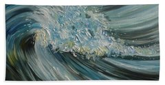 Beach Sheet featuring the painting Wave Whirl by Julie Brugh Riffey