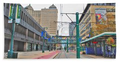 Beach Towel featuring the photograph Welcome To Dt Buffalo by Michael Frank Jr