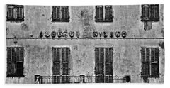 Beach Towel featuring the photograph Welcome To The Hotel Milano by Andy Prendy