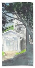 Beach Sheet featuring the painting Wellers Carriage House 1 by Yoshiko Mishina