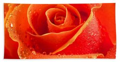 Wet Rose Beach Towel