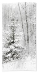Whispers The Snow Beach Towel by Angie Rea
