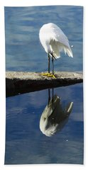 White Heron Beach Sheet by Anne Mott