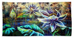 White Lotus Beach Towel