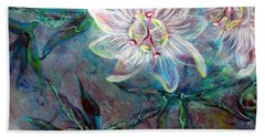 White Passion Beach Towel