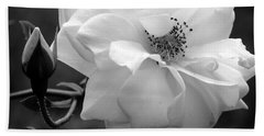 Beach Towel featuring the photograph White Rose by Michelle Joseph-Long