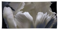 Beach Towel featuring the photograph White Tulip by Nancy Griswold