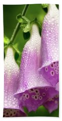 Beach Towel featuring the photograph Wild Foxglove by Albert Seger