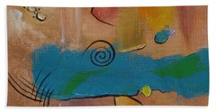 Beach Towel featuring the painting Wild Wild West by Judith Rhue