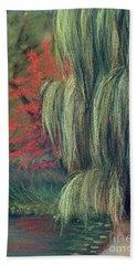 Beach Sheet featuring the drawing Willow Tree - Hidden Lake Gardens -tipton Michigan by Yoshiko Mishina
