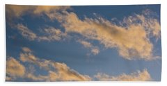 Beach Towel featuring the photograph Wind Driven Clouds by Mick Anderson