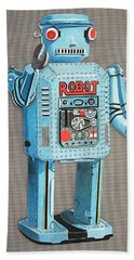 Wind-up Robot 2 Beach Towel
