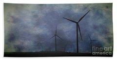 Windmills. Beach Towel