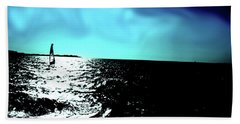 Windsurfing Greece Beach Towel