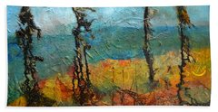 Windswept Pines Beach Towel