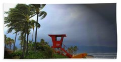 Windy Day In Haleiwa Beach Towel by Mark Gilman