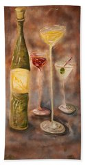 Wine Or Martini? Beach Towel