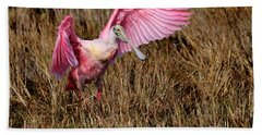 Wings Of Pink And Silk Beach Sheet
