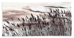 Winter Grasses Beach Towel