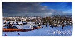 Winter In Inverness Beach Towel