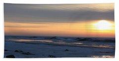 Winter Sleeps Beach Sheet