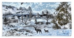 Winter Wonderland Beach Towel by Lourry Legarde