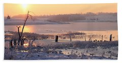 Beach Towel featuring the photograph Winter's Morning by Elizabeth Winter