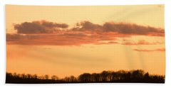 Wispy Clouds At Sunset Beach Towel