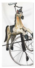 Wooden Horse Trike Beach Towel