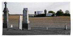 Ye Olde Farmstead Beach Towel by Sue Stefanowicz