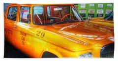 Yellow Cab No.29 Beach Towel by Dan Stone
