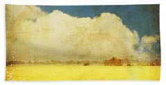 Yellow Field Beach Towel