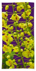 Yellow Flower Beach Towel by Manuela Constantin