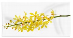 Beach Sheet featuring the photograph Yellow Orchid Bunch by Atiketta Sangasaeng