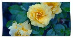 Beach Towel featuring the photograph Yellow Roses by Rodney Campbell