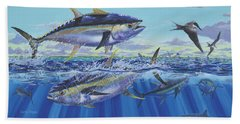 Yellowfin Bust Beach Towel